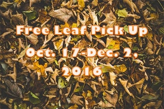 Free leaf pick up Oct. 17 - Dec. 2 2016