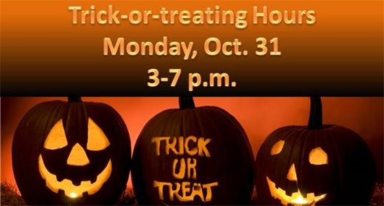Trick or treat hours in Villa Park are from 3 to 7 p.m. Monday, Oct. 31, 2016.