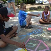 Sidewalk Chalk Party
