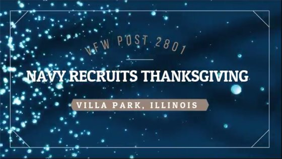 Click to watch VFW Thanksgiving Dinner video