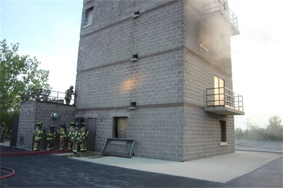 Villa Park Citizens Fire Academy searched the training tower in Addison.