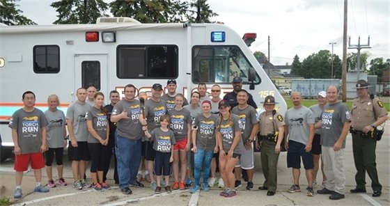 Villa Park Police and Special Olympics supporters participated in the Law Enforcement Torch Run on June 7, 2015.