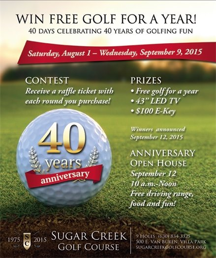 Sugar Creek Celebrates 40 Years