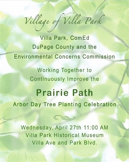 Villa Park Arbor Day 2016 Celebration