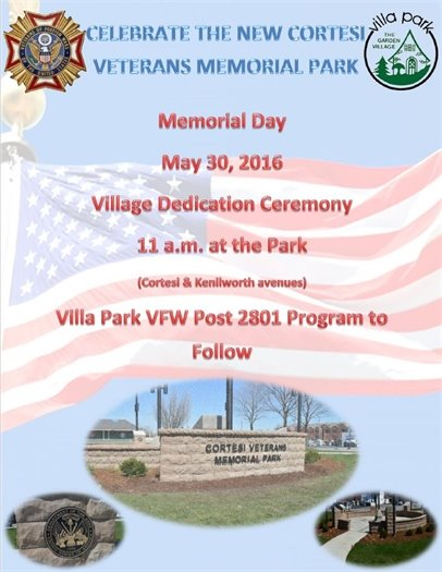Cortesi Veterans Memorial Park Celebration
