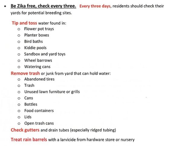 Zika Prevention Tips