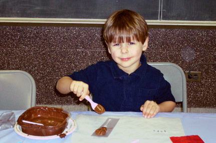 Little Boy Having Chocolatey Fun