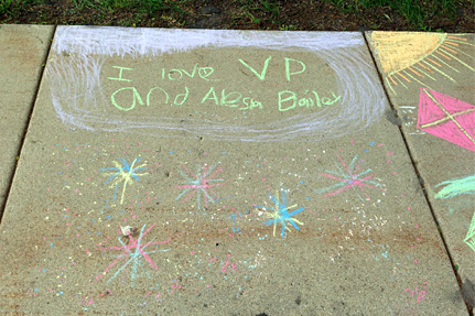 I Love VP and Alesia Bailey, Written on the Sidewa