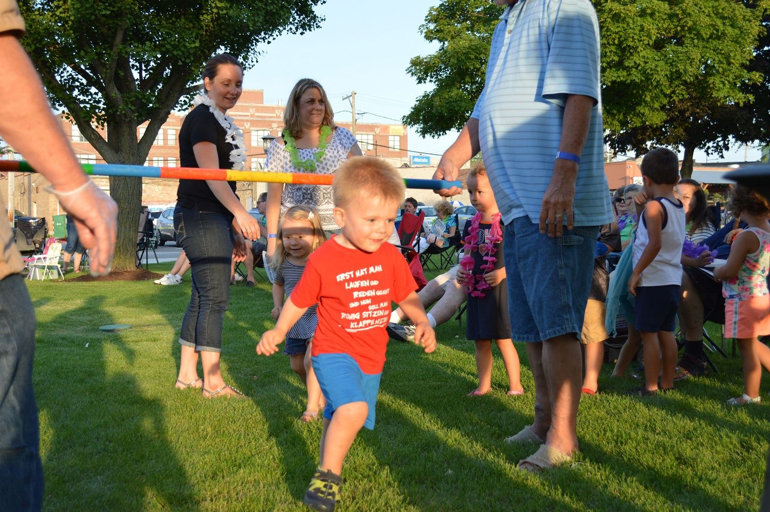 Kids limbo during the Mr. Meyers concert at Cortesi Veterans Memorial Park on Aug. 4, 2016.