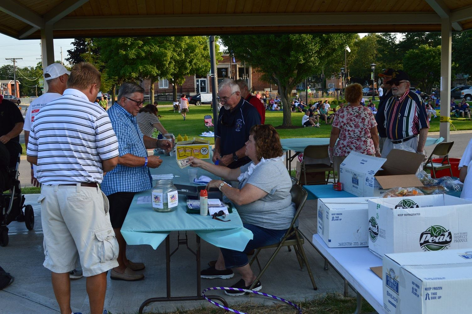 Members of the Villa Park VFW Post 2801 serve concessions at a summer concert at Cortesi Veterans Memorial Park on Aug. 4, 2016.