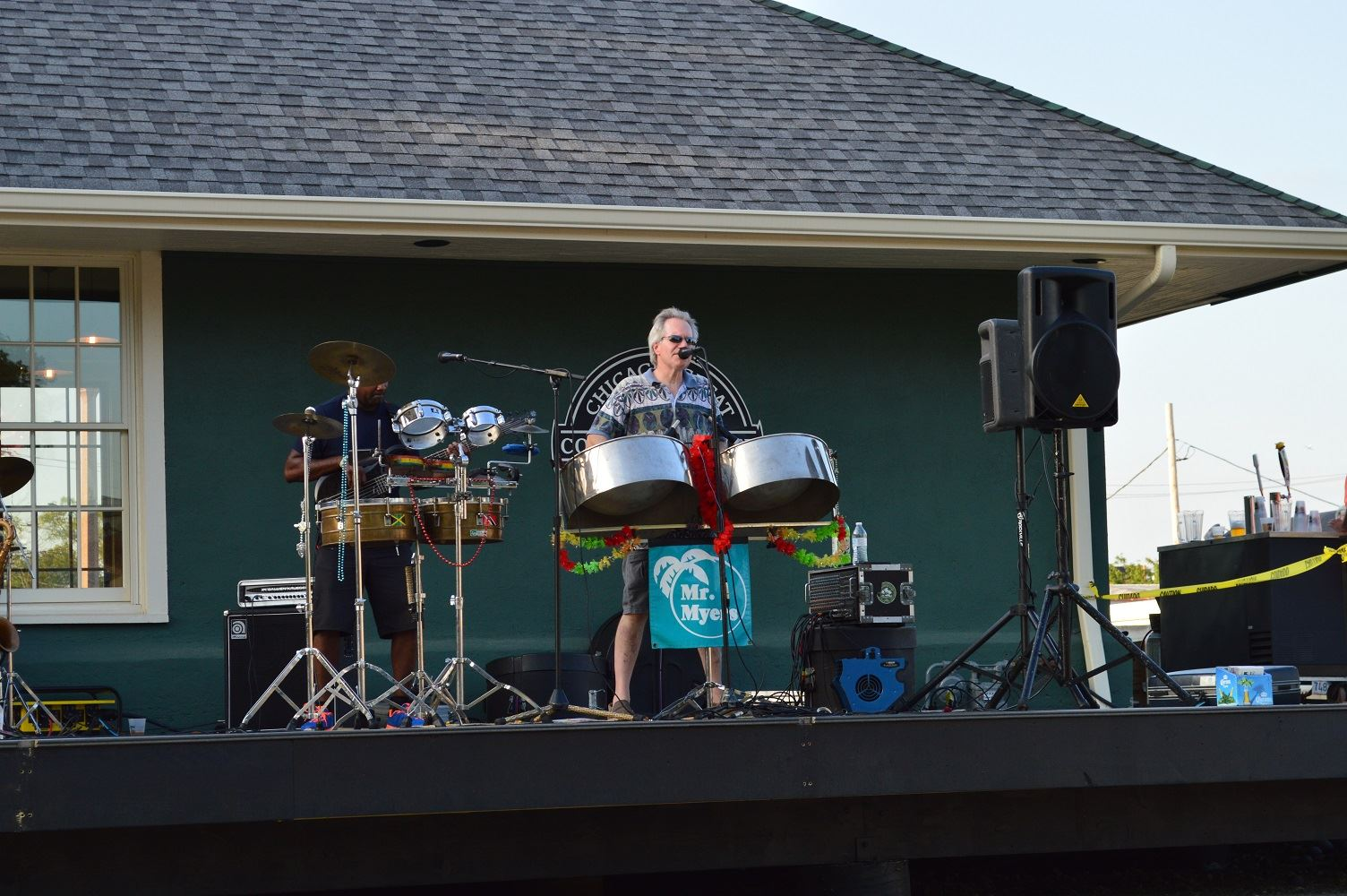 Mr. Meyers performs at Cortesi Veterans Memorial Park Aug. 4, 2016.