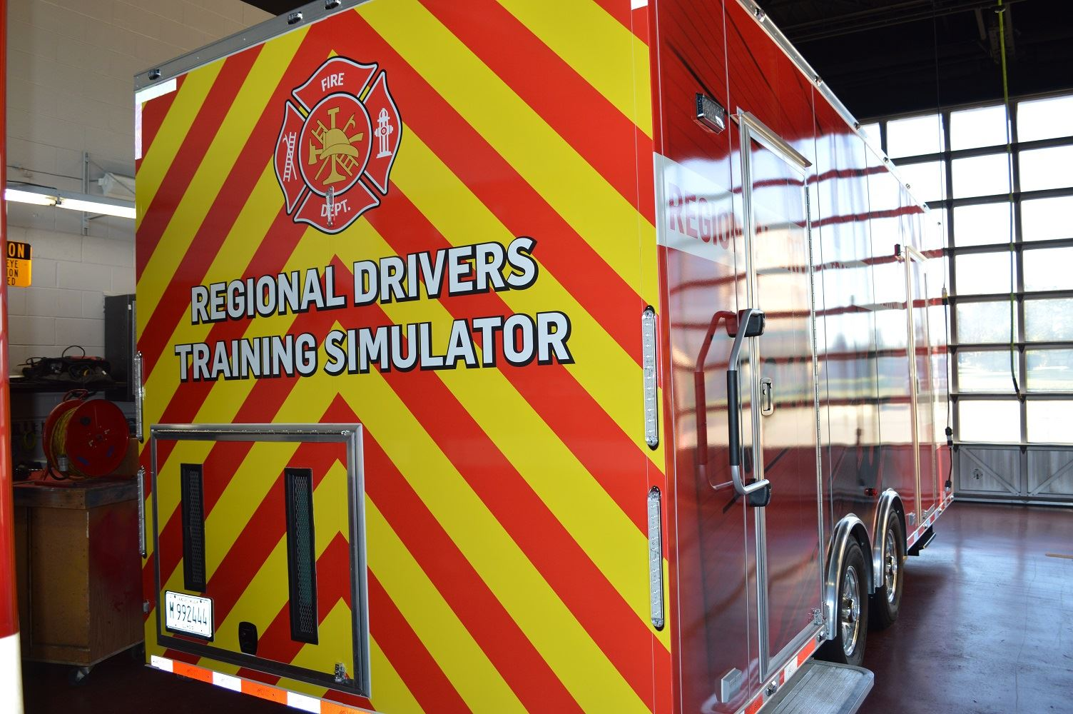 The Regional Driving Simulator allows firefighters to train in simulated adverse weather and driving conditions.