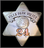 Villa Park Police Badge from 1920 Opens in new window
