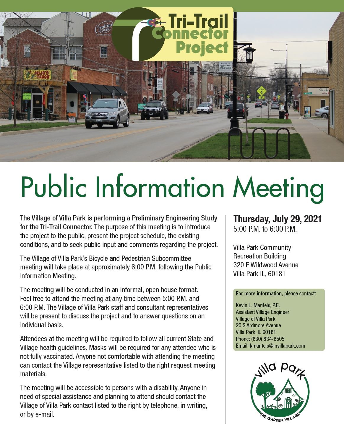 Tri-Trail Connector Project Public Information Meeting Flyer Opens in new window